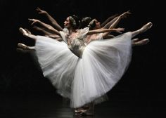 "The Paris Opera Ballet of France during full dress rehearsal for ""Giselle"""