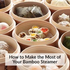 Whether you're steaming a big batch of dumplings or just some fresh vegetables to go with dinner, a bamboo steamer basket is the tool for the job. Using one is so easy and makes such delicious food, y (Baking Tools And Equipment)