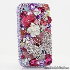 """Style 470 This Bling case can be handcrafted for iPhone 4/4S, 5, 5S, all Samsung Galaxy models (S3, S4, Note 2). The current price is $79.95 (Enter discount code: """"facebook102"""" for an additional 10% off during checkout)"""