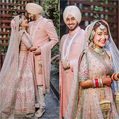 Indian Wedding Couple Photography, Wedding Couple Poses, Wedding Couples, Sikh Bride, Sikh Wedding, Wedding Events, Wedding Photoshoot, Wedding Shoot, Wedding Attire