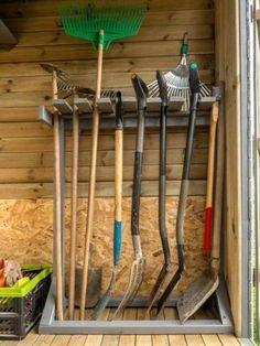 How to Be Productive with Just 1 Minute, Hour, or . - shed design shed diy shed ideas shed organization shed plans garden shed Garage Tool Storage, Garage Tools, Shed Storage, Garage Workshop, Yard Tool Storage Ideas, Tools Tools, Storage Rack, Hand Tools, Garden Tool Organization