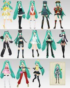 More Hatsune Miku outfits