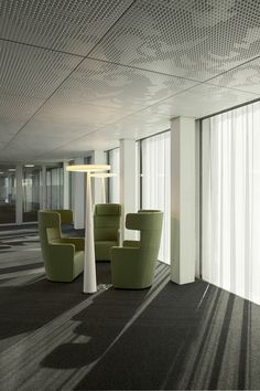 #Equilibre floor lamps, design by Luc Ramael for #Prandina, at the new Allianz Headquarters in Zürich - Project by Wiel Arets Architects  www.prandina.it