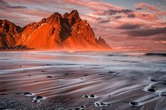 Sunset Over Vesturhorn, Iceland Photo by Sophie Carr — National Geographic Your Shot
