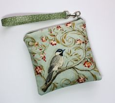 Sweet Pea Zip and Go Wristlet / Birds by SweetPeaTotes on Etsy, $16.00