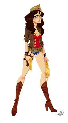 WWII Wonder Woman by chillyfranco.deviantart.com on @deviantART