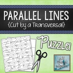Parallel Lines {Cut by a Transversal} Puzzle Activity