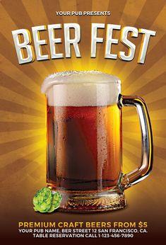 Beer Fest Flyer Template https://noobworx.com/store/beer-fest-flyer-template/?utm_campaign=coschedule&utm_source=pinterest&utm_medium=NoobWorx&utm_content=Beer%20Fest%20Flyer%20Template #free #flyer #template