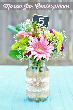Burlap and lace mason jars diy of flowers vase - wedding crafts, flowers vase