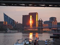 Sunset on #Ohio River in #Cincinnati
