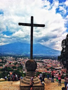 Antigua Guatemala, El Cerro de la Cruz.  i know its in my 'places to go' board and I've already been there but i want to go back!! :(