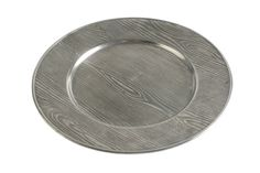 Vagabond House Wood pattern pewter charger