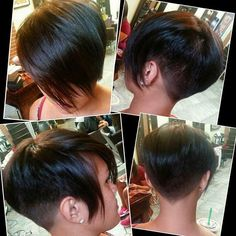 great ideas for short cuts for fall New Looking for a nice haircut for the new fall / winter New Hairstyle Trends season? Our site offers you a magnificent collection of the most beautifu. Short Wedge Hairstyles, Asymmetrical Hairstyles, Cute Hairstyles For Short Hair, Short Hair Cuts For Women, Pixie Haircut, Hairstyles Haircuts, Short Hair Styles, Short Cuts, Corte Bob