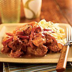 Superfast International Chicken Recipes | Chicken Paprikash | CookingLight.com