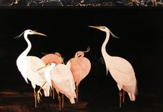 YannickChastang | 7- Exotic bird furniture in pink ivory and ebony, 2004