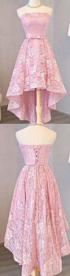 2017 Homecoming Dress Beautiful Lace Asymmetrical Short Prom Dress Party Dress WF02-334
