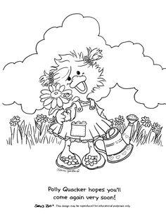 Suzy's zoo coloring pages in garden