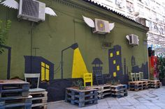 Public space intervention in Athens, Greece  by Atenistas