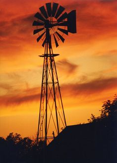 orang, farms, texas sunsets, silhouettes, paint, kansa life, homes, windmills, amaz photo