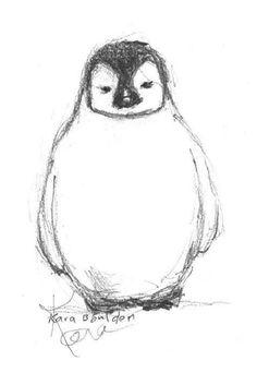 Pencil Sketches Of Animals, Pencil Sketch Drawing, Cute Animal Drawings, Pencil Drawings, Art Sketches, Art Drawings, Drawing Animals, Penguin Sketch, Penguin Drawing