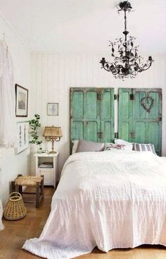 Room panel: 60 unique and creative ideas to decorate - Home Fashion Trend Shabby Chic Bedrooms, Bedroom Vintage, Romantic Bedrooms, Pink Bedrooms, Home Bedroom, Bedroom Decor, Bedroom Ideas, Palette Deco, Home And Deco