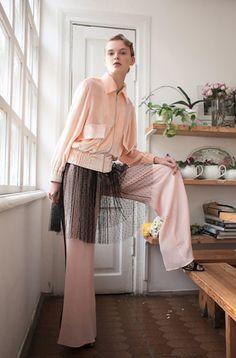 Yana Chervinska, ukrainian designer, SS 17, fashion style, street style, pink style