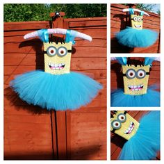 I know minions can be terrifying. But i thought this might make you laugh a little. Costume Halloween, Fall Halloween, Halloween Ideas, Minion Birthday, Minion Party, Tutu Costumes, Cool Costumes, Minion Tutu, Diy Tutu Skirt