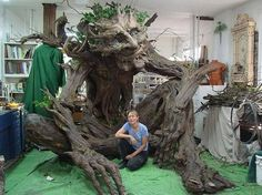 Artist Kim Beaton (Kim Beaton), who lives in Seattle, has resorted to using 25 volunteers to create a tree-height 3.5 m a troll without the use of toxic materials. The inspiration for the good people of this forest giant was her late father, a woodcutter from Montana.