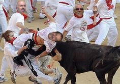 On to Spain and running with the Bulls.