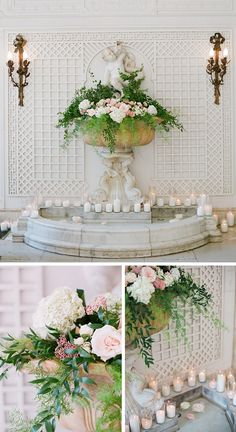 wedding, reception, floral, green and pink floral, candles Wedding Backdrop Design, Wedding Decorations, Table Decorations, Wedding Blog, Wedding Stuff, Wedding Ideas, Floral Arrangements, Wedding Reception, Backdrops