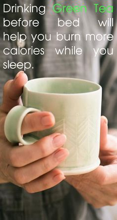 Drinking green tea before bed