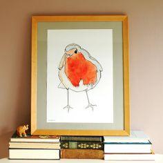 Robin Poster  Illustration by Rebecca Kiff by RebeccaKiffGallery, £16.50