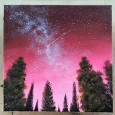 What is Your Painting Style? How do you find your own painting style? What is your painting style? Easy Canvas Art, Small Canvas Art, Easy Canvas Painting, Acrylic Canvas, Sillouette Painting, Galaxy Painting Acrylic, Purple Painting, Simple Acrylic Paintings, Pour Painting