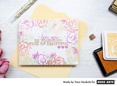Be Your Own Kind of Beautiful using For You Color Layering Stamp Set by Yana Smakula