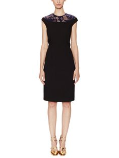 Linsey Lace Yoke Sheath Dress from Final Sale: Dresses on Gilt
