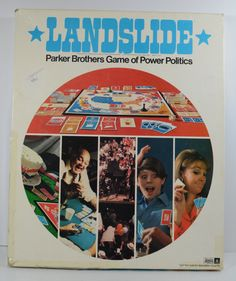 Landslide Board Game Parker Brothers Game by RipplingWaterVintage