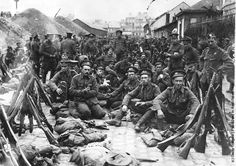 French troops waiting to depart for the Belgian front 1914