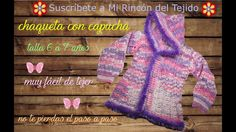 Video chaquetón niña de 6 a 7 años a crochet - Crochet video step by ste...
