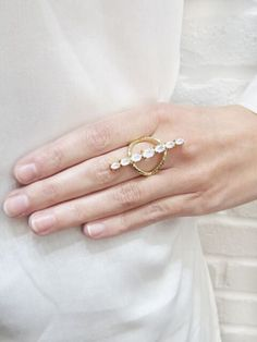 minimalistic jewelry antique bronze plated rings girls midi rings Minimal faux gold ring resin jewelry simple kids jewellery