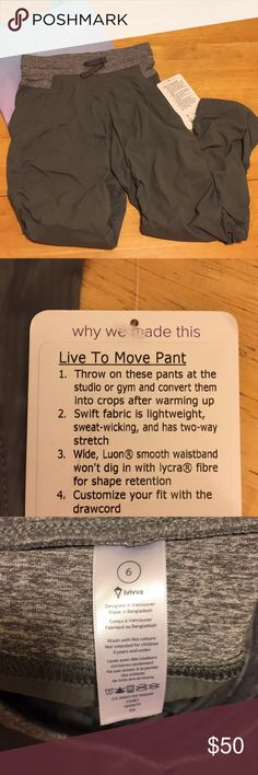 Lululemon ivivva girls NWT  Live to move pants  6 Brand new with tag . Will include ivivva shopping bag. Ivivva Bottoms Sweatpants & Joggers