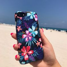 Lilac Kiss Floral Case for iPhone 7 & iPhone 7 Plus from Elemental Cases. Who doesn't love a day at the beach