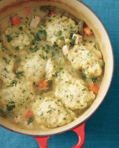 When you don't have time to make chicken pot pies, enter this every-bit-as-satisfying substitute: chicken and dumplings, ready in about 45 minutes.
