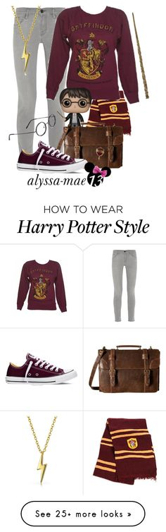 """""""Harry Potter // DisneyBound // Harry Potter"""" by alyssa-mae13 on Polyvore featuring Frame Denim, FunKo, Scully, Converse, Bling Jewelry, harrypotter, disney and disneybound"""