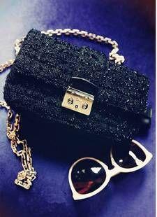 特价2012小辣椒同款呢子化妆包小黑包手包晚宴包单肩包斜跨包女包-淘宝网