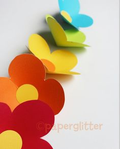 Print flower templates on your favorite color cardstock---no color ink needed!  Available at the shop http//:www.paperglitter.com  EASY flower template!