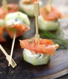 Smoked Salmon and Cream Cheese Cucumber Bites | Want-to-Share.com