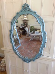 Vintage Rococco Ornate Oval Wall Mirror Cottage French Country Shabby Chic Local Pick Up