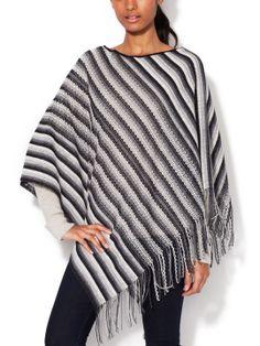 Striped Knit Poncho by Missoni