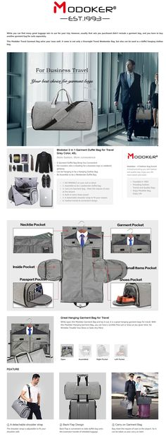 NO WRINKLE - HANGING GARMENT BAG  While open this Modoker Garment Bag and  lay it f6a2d27e035a3