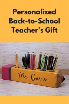 Super Cute Back-to-School Teacher's Gift - Teacher Sign, Teacher Appreciation Gift, Personalized Gift, Teacher Pencil Sign, Decor, Classroom Decoration, organizer, Teacher Gift (sponsored)